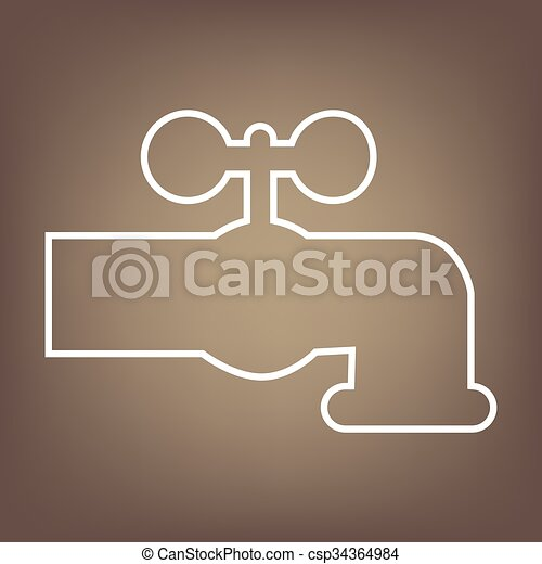 Line icon on the brown background - csp34364984