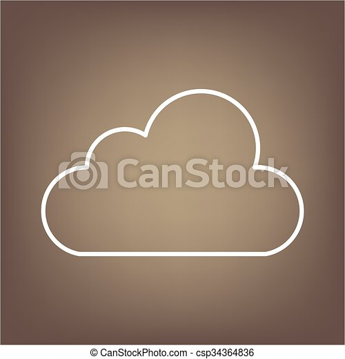 Line icon on the brown background - csp34364836