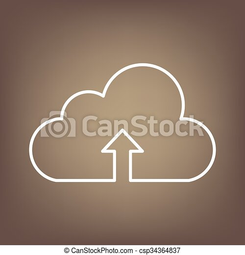 Line icon on the brown background - csp34364837
