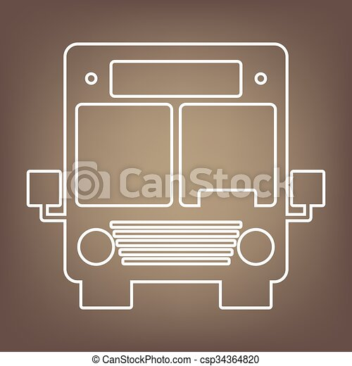 Line icon on the brown background - csp34364820