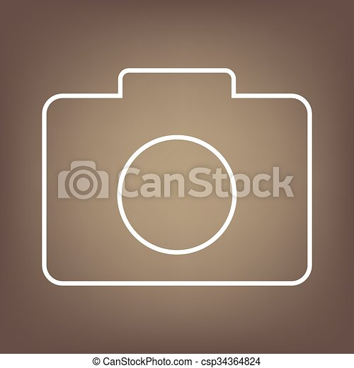 Line icon on the brown background - csp34364824