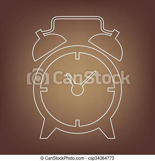 Line icon on the brown background - csp34364773