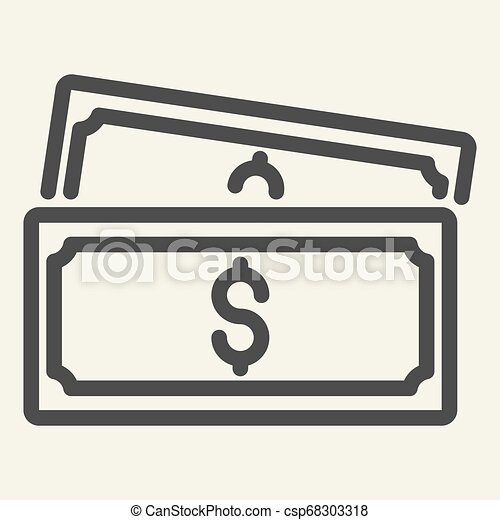 line icon. vector illustration isolated on white. Money outline style design, designed for web and app. Eps 10. - csp68303318