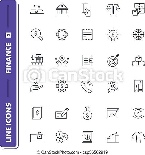 Line icons set. Finance - csp56562919
