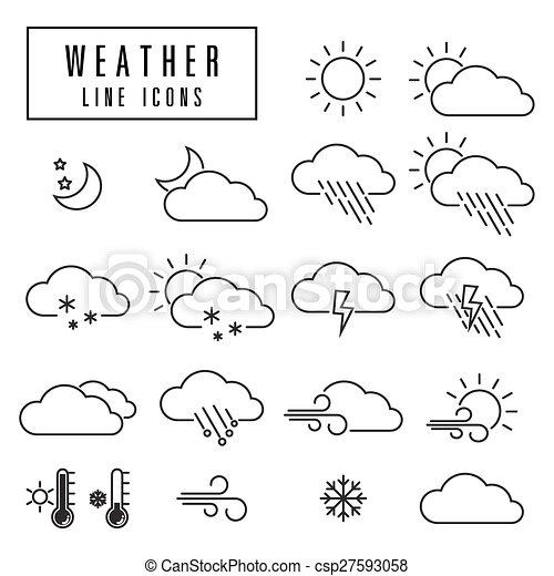 line icons weather - csp27593058