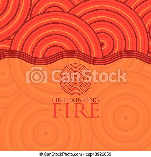 Line painting invite/ greeting card in vector format. - csp43926650