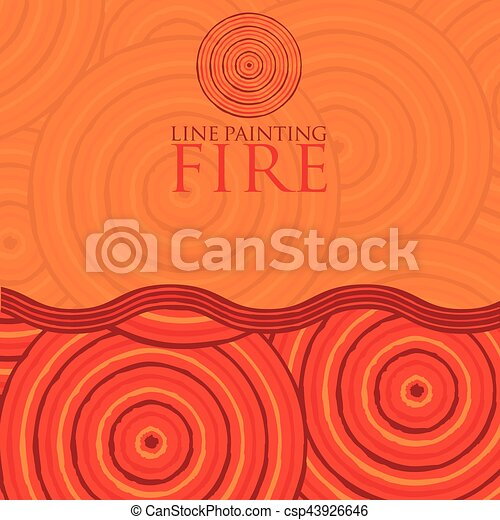 Line painting invite/ greeting card in vector format. - csp43926646
