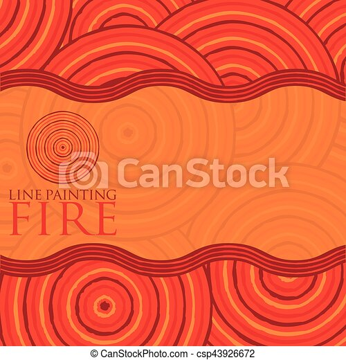 Line painting invite/ greeting card in vector format. - csp43926672