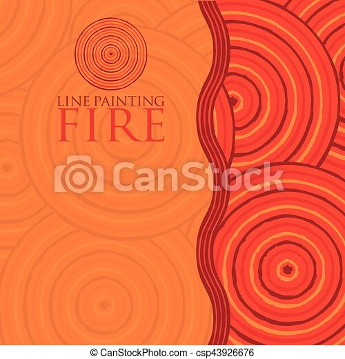 Line painting invite/ greeting card in vector format. - csp43926676