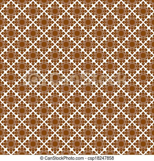 Line Thai art pattern illustration. - csp18247858