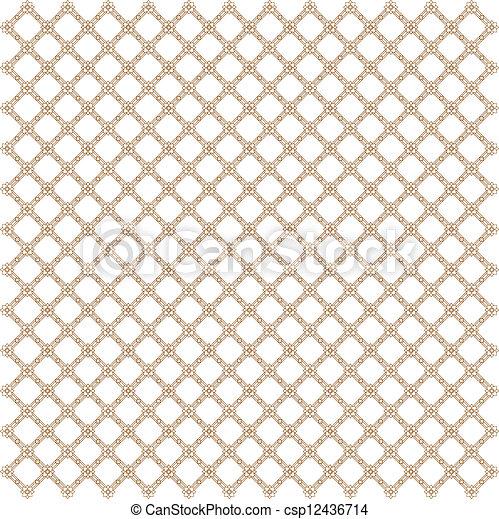 Line thai art pattern illustration. - csp12436714
