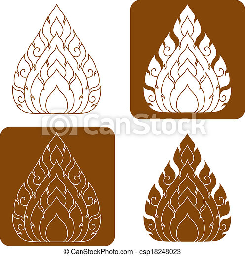 Line Thai art pattern illustration. - csp18248023