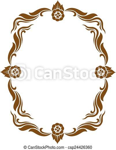 Line Thai art pattern vector illustration - csp24426360