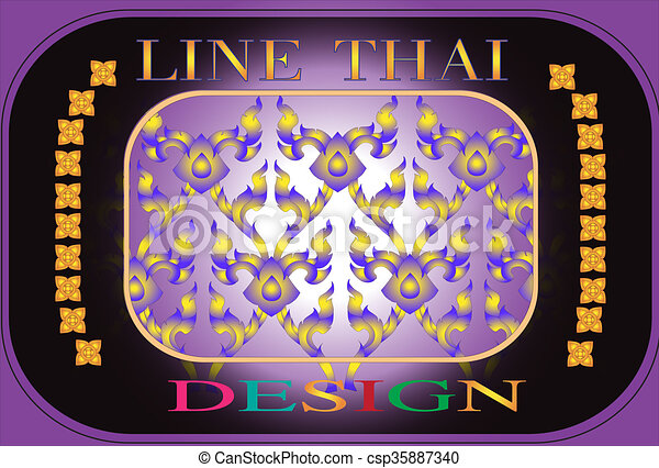 line Thai design - csp35887340