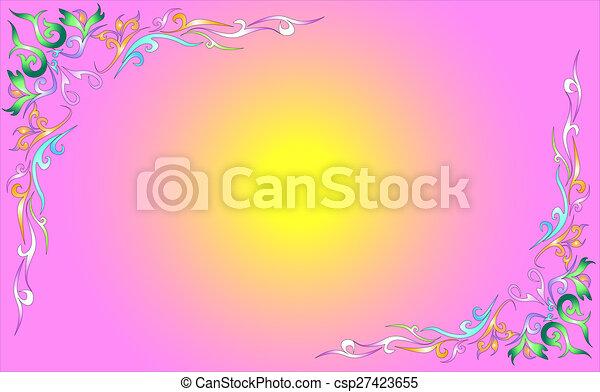 line-thai-pattern - csp27423655