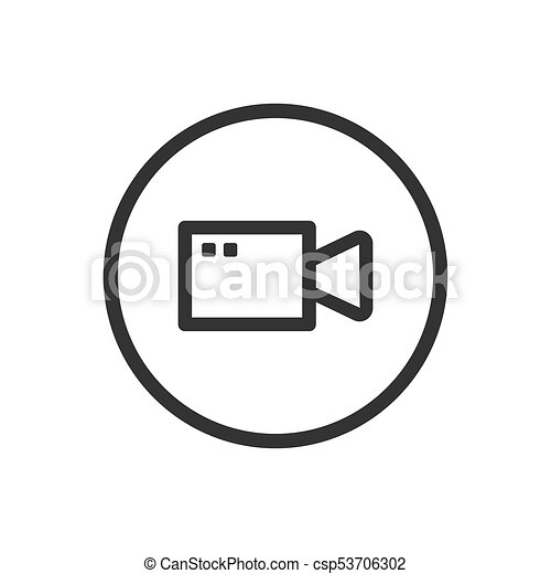 Line video icon on a white background - csp53706302