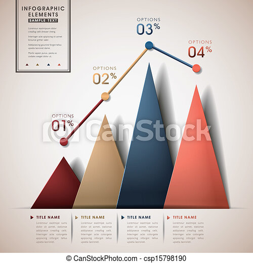 linea, astratto, triangolo, grafico, infographics - csp15798190
