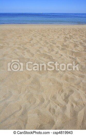 linea costiera, spiaggia, prospettiva, riva, estate, sabbia - csp4819943