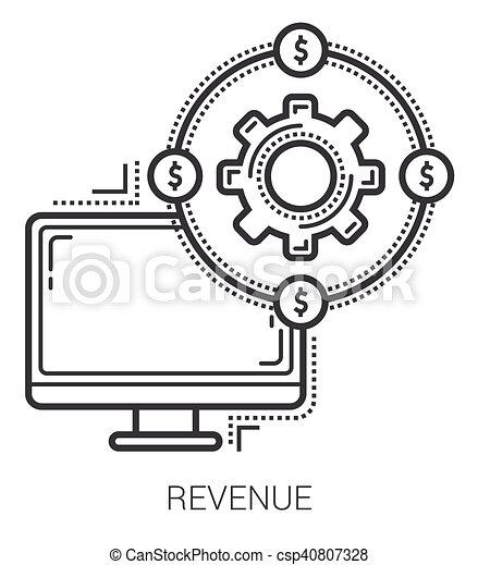 linea, icons., reddito - csp40807328