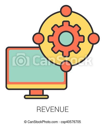 linea, icons., reddito - csp40576705