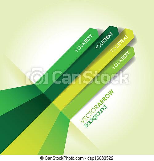 linea, verde, freccia, fondo - csp16083522