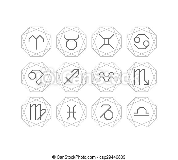 Linear zodiacal signs - csp29446803