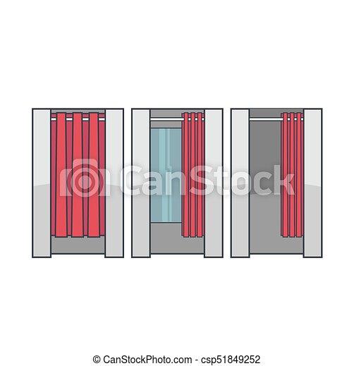Lineart Dressing Room Vector