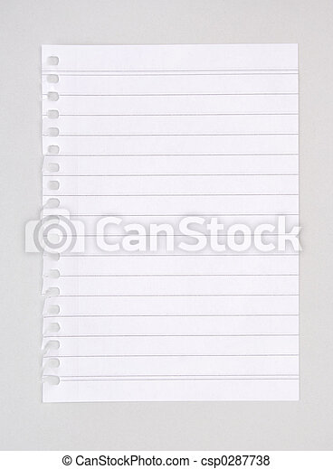 Lined Notebook Paper - csp0287738