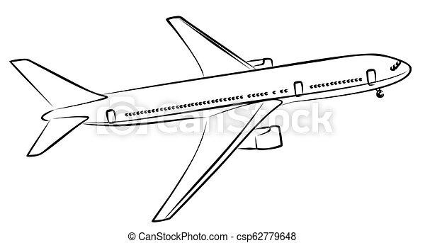 liner., passageiro, esboço - csp62779648