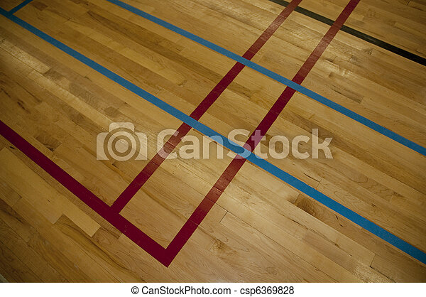 Line Art Floors : Lines on a hardwood gym floor . pictures