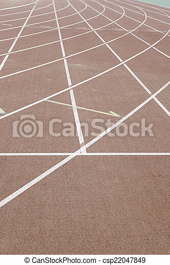 Lines on a running track - csp22047849