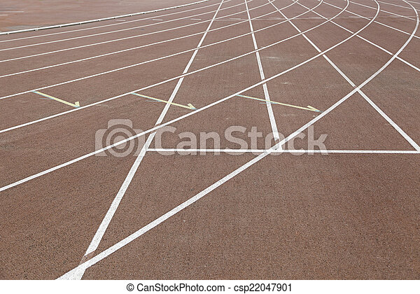 Lines on a running track - csp22047901