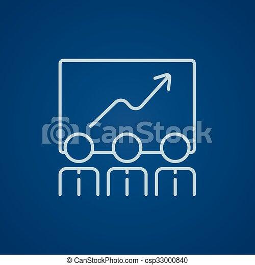 linha, crescimento, icon., negócio - csp33000840