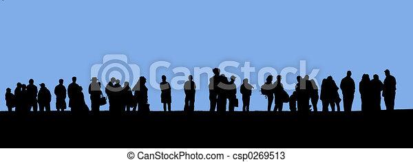 linha, pessoas - csp0269513
