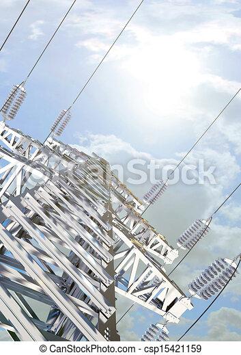 linha transmissão, poder - csp15421159