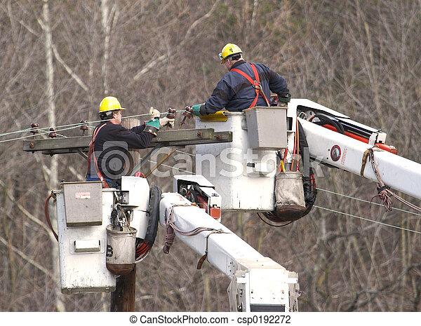 linie, arbeiter - csp0192272