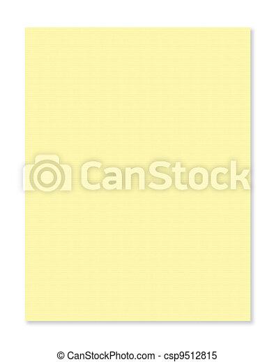 Linie, papier, gelber hintergrund.