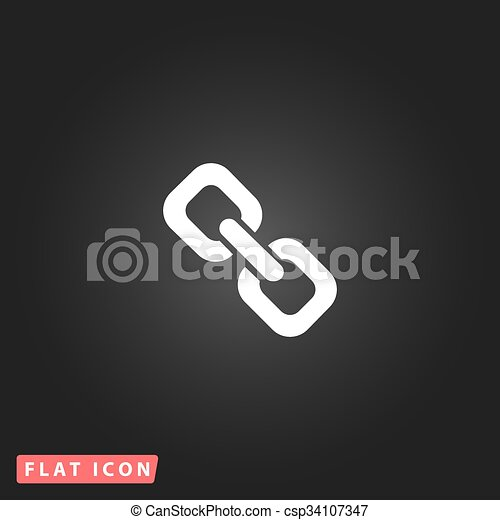 link flat icon - csp34107347