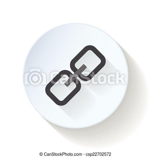 Link flat icon - csp22702572