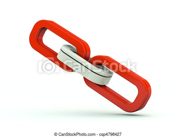 Link icon. Red series - csp4798427