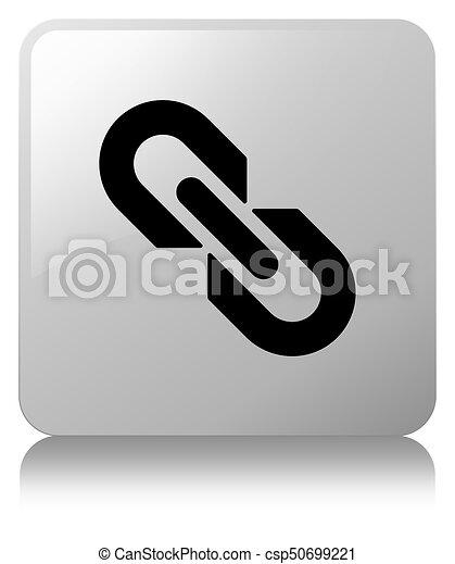 Link icon white square button - csp50699221