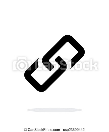 Link simple icon on white background. - csp23599442