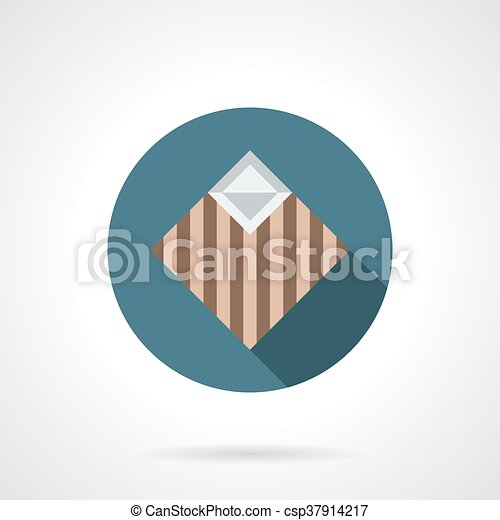 Linoleum samples round flat vector icon - csp37914217