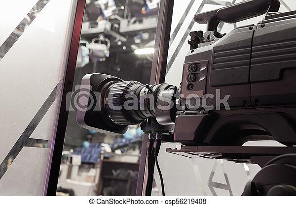Fernsehstudio-Kamera-Objektiv - csp56219408
