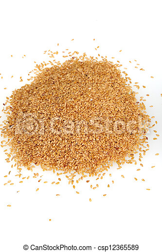 Linseed on white background - csp12365589