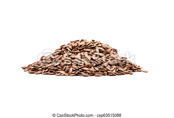 Linseed on white background - csp63515088