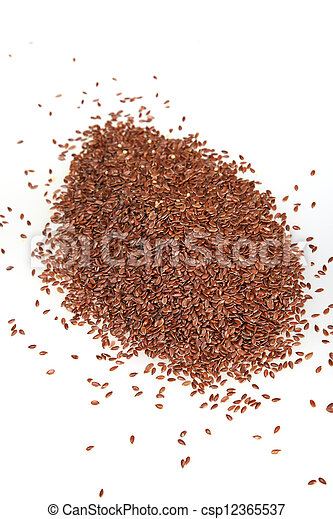 Linseed on white background - csp12365537