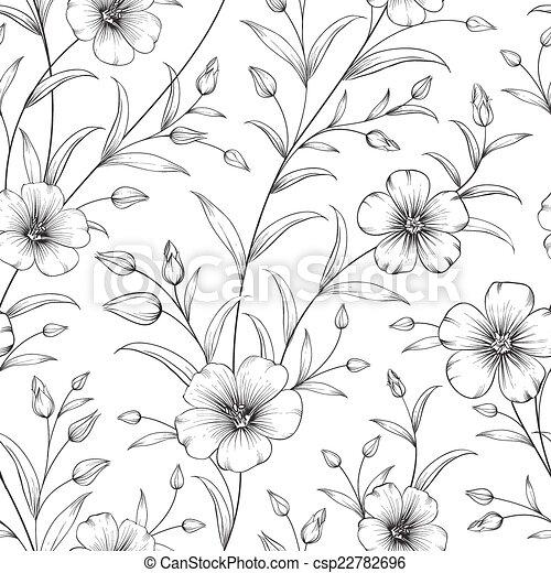 linum, pattern. - csp22782696