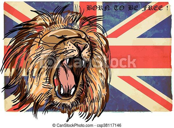 Lion - An hand drawn vector - csp38117146