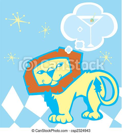 Lion and Martini - csp2324943
